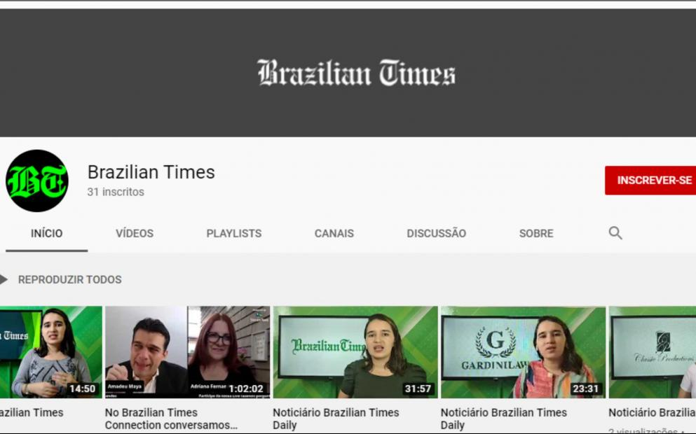 Brazilian Times abre canal no YouTube
