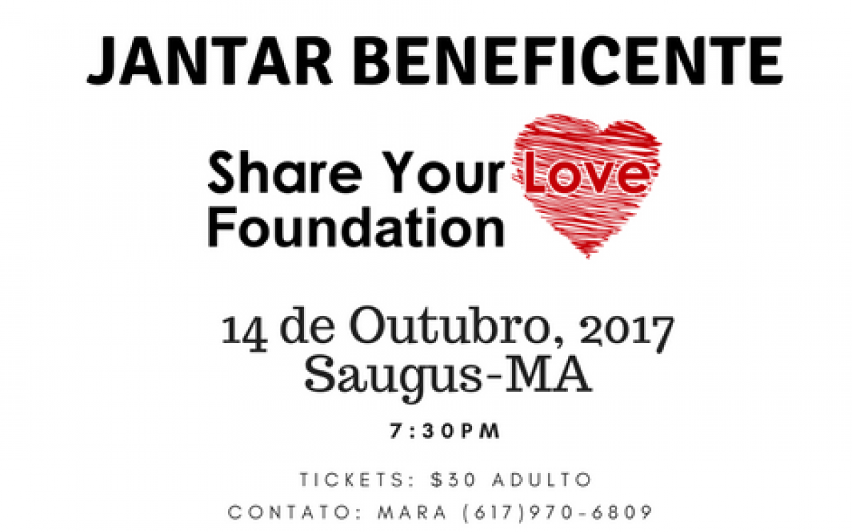 Share Your Love Foundation realiza jantar beneficente