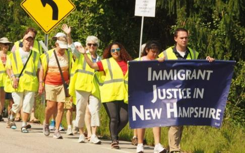 Marcha de Boston (MA) a Dover (NH) pede fim das detenções e deportações dos imigrantes